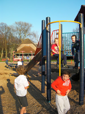 firemans pole and slide frame in playpark