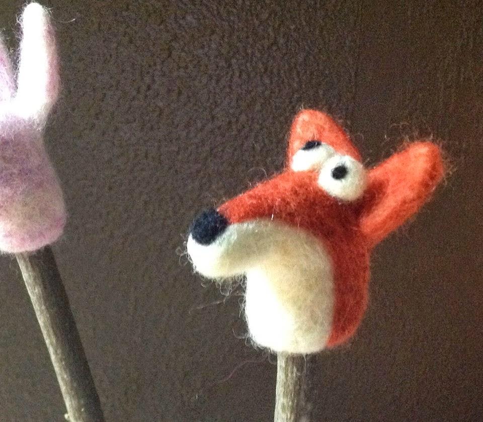 finger puppet ~ Rusty the fox