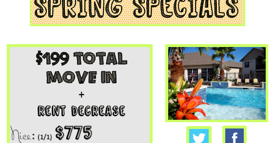 My apartment home awesome apartment specials for the When is the best time to move house