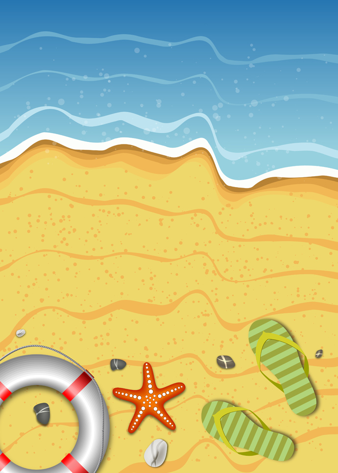 summer holiday beach background design and wallpaper