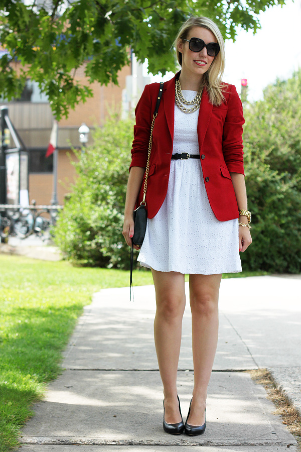 Massimo Dutti, Red Blazer, Transitional outfits,