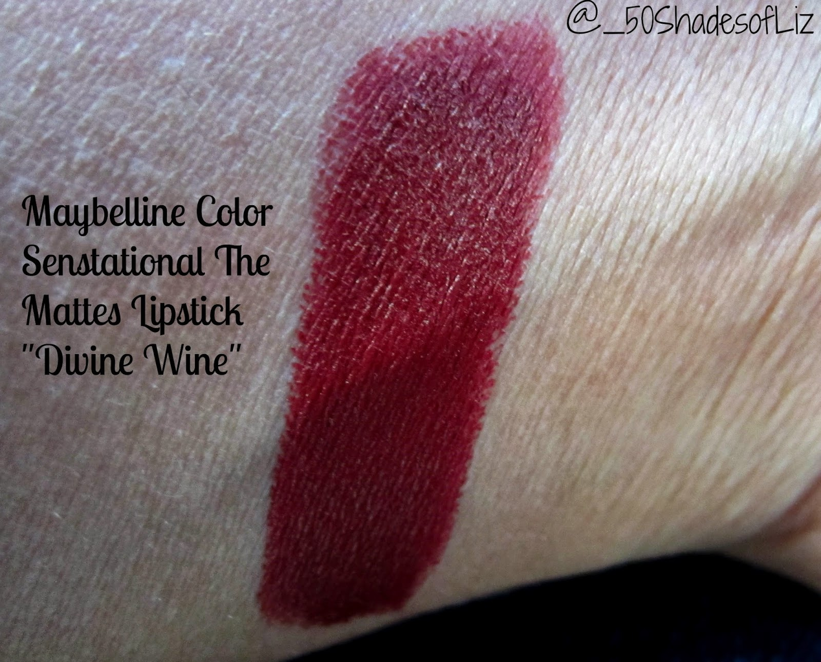Maybelline Color Sensational The Mattes in Divine Wine: Swatches and Review