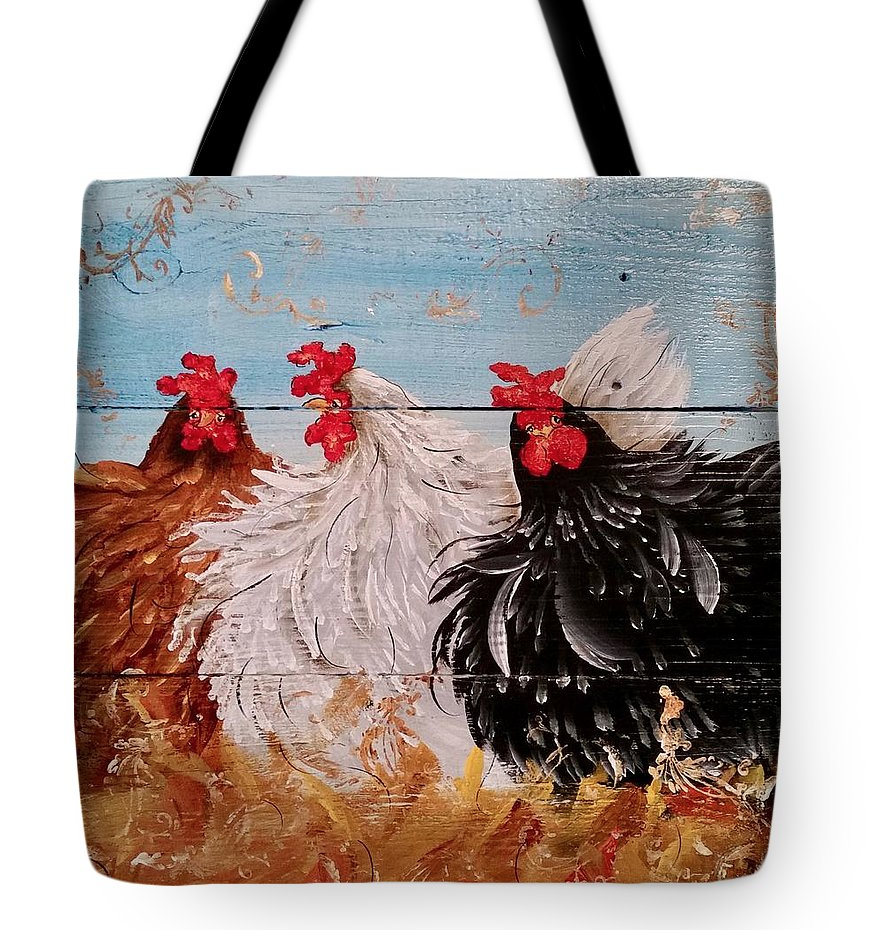 Chickens on Tote Bags