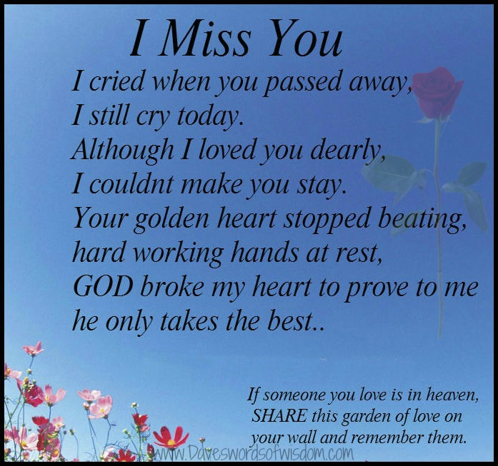 Miss My Brother Who Passed Away Miss you i cried when you