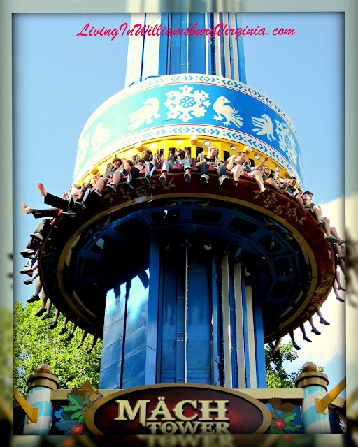 Mach Tower, Busch Gardens Williamsburg, Virginia