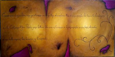 Pergamino al óleo con el poema Cuando inicies tu viaje a Ítaca