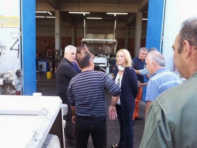 Επίσκεψη της Ρένας Δούρου στον σταθμό Μεταφόρτωσης Σχιστού