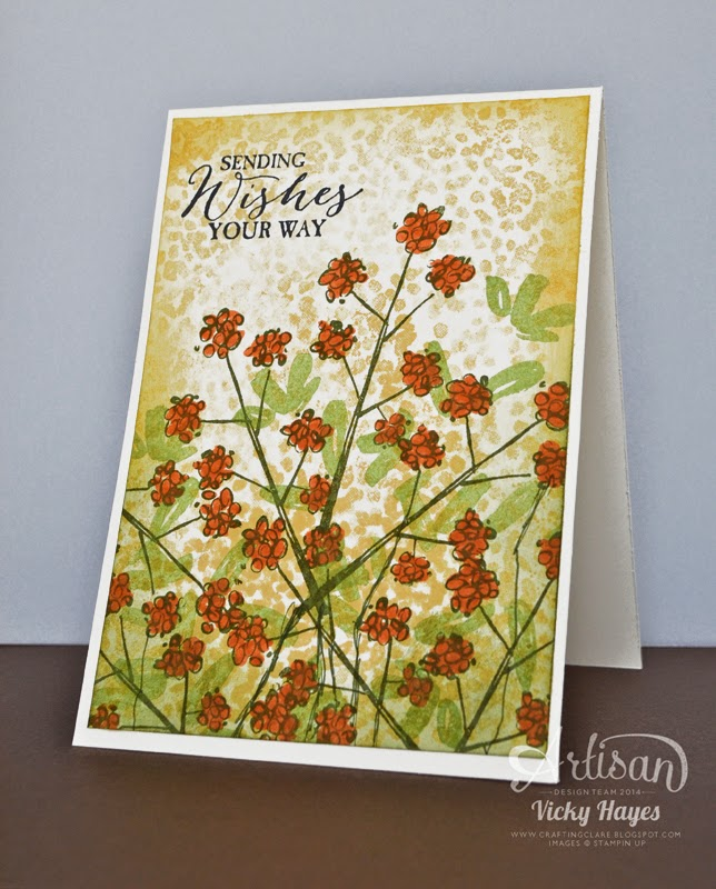 faux pointillism tutorial using Sheltering Tree from Stampin' Up