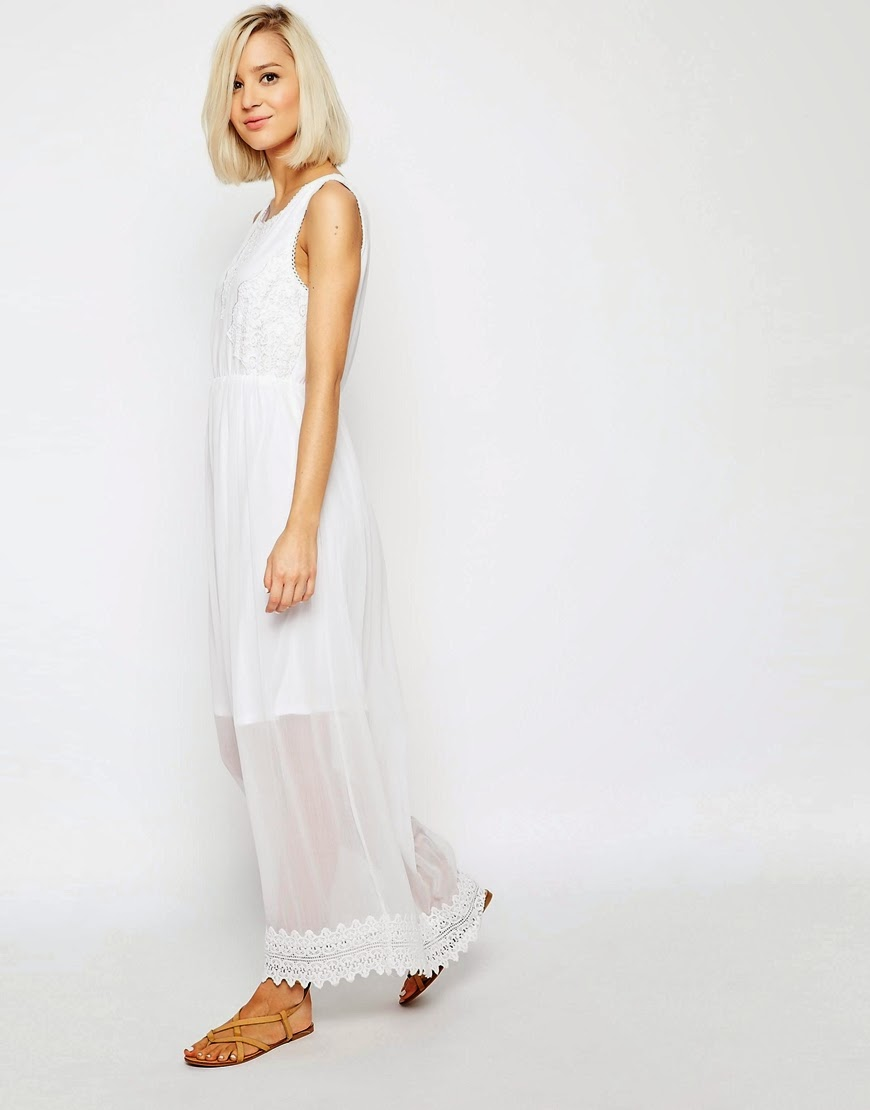 vero moda white maxi dress