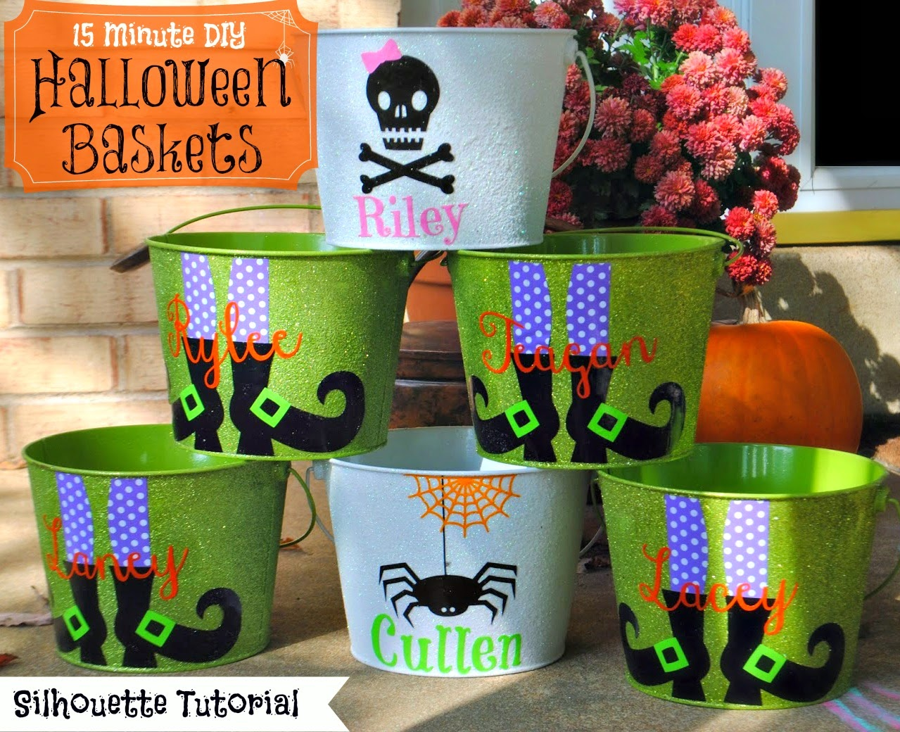 15 Minute Customized Halloween Buckets (On The Cheap) - Silhouette ...