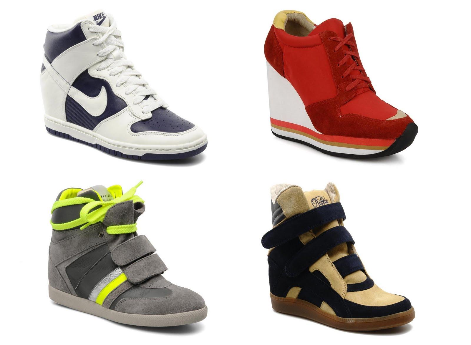 ot fashion dope or flop sneaker mit absatz wedge sneaker. Black Bedroom Furniture Sets. Home Design Ideas