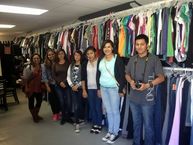 "To explore ways to fight bullying, a group of youth visited an organization in a nearby town that offers a similar ""closet"" of donated clothes."
