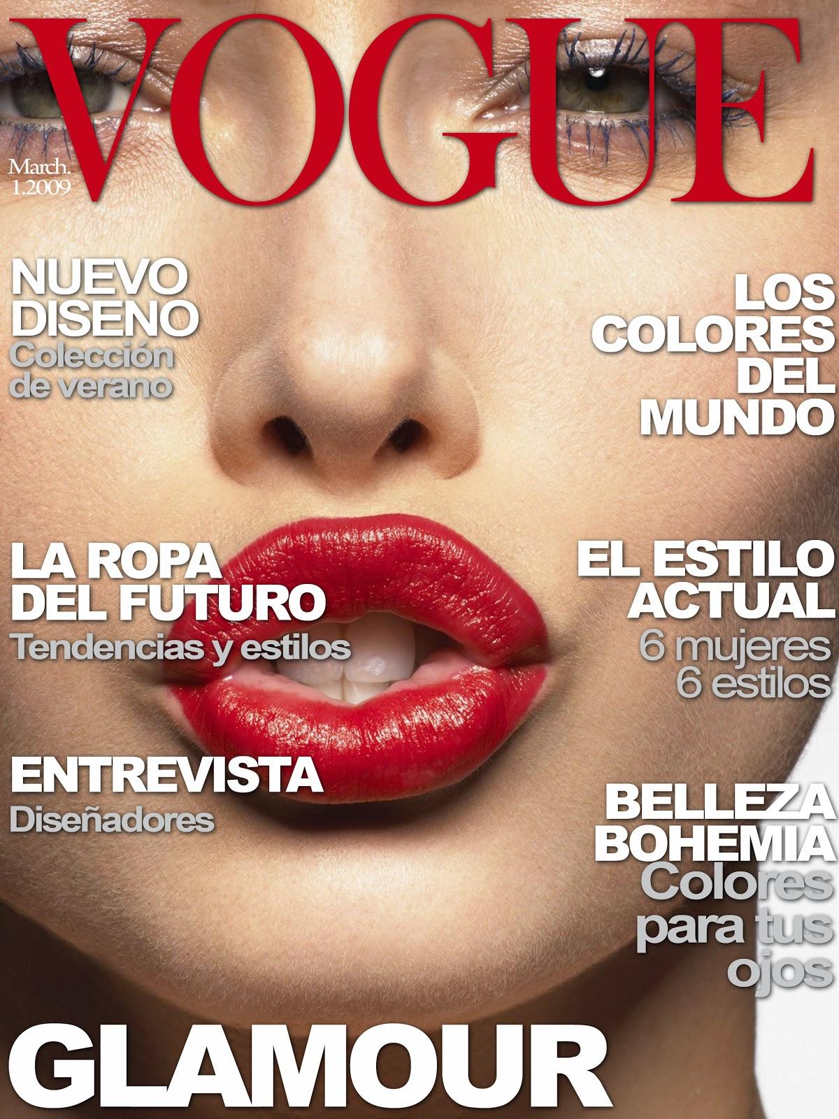 labiblioteque: Plantilla de photoshop de la revista VOGUE