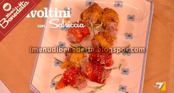 Involtini di Peperoni con Salsiccia di Benedetta Parodi