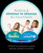 Lutons contre le tétanos avec Pmpers et UNICEF