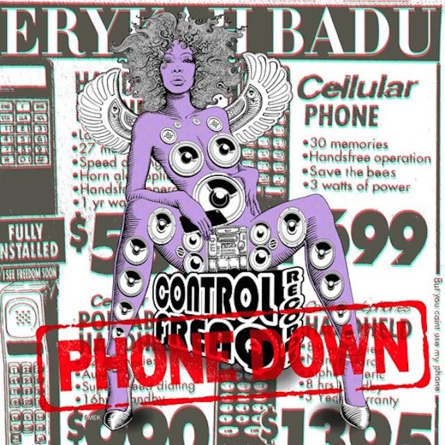 "Erikah Badu lança single ""Phone Down"" que vai esta na sua proxima mixtape"