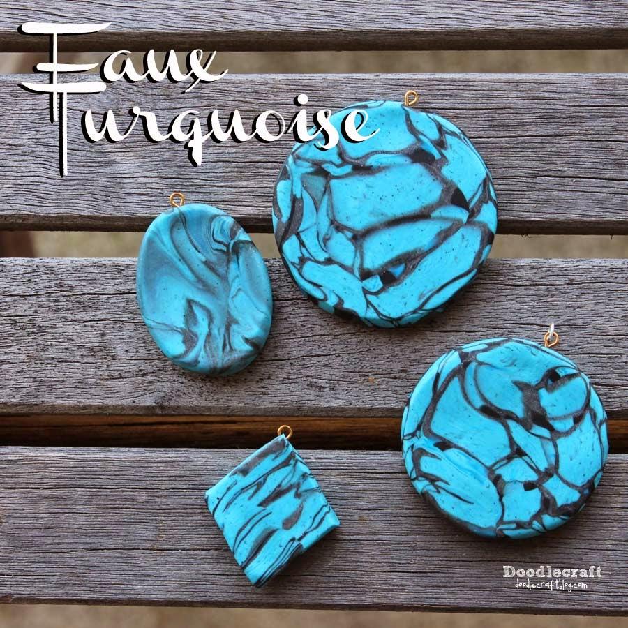 doodlecraft faux turquoise pendants