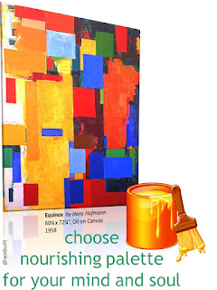 Equinox by Hans Hofmann, Choose nourishing palette for your mind and soul, collage by wobuilt.com