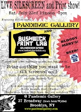 Live Silkscreen / Print Show with Bushwick Print Lab