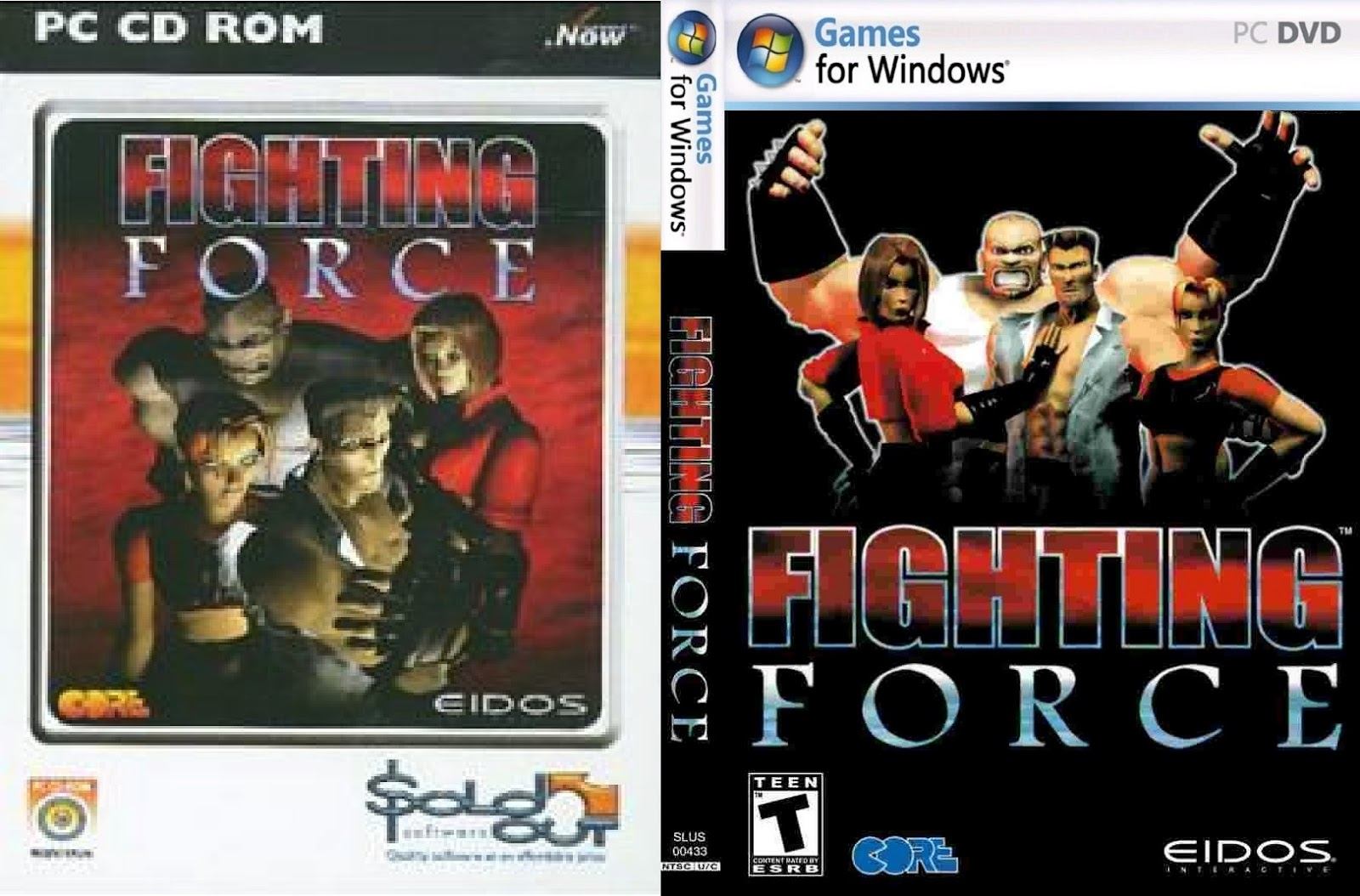 Fighting Force PC DVD Capa