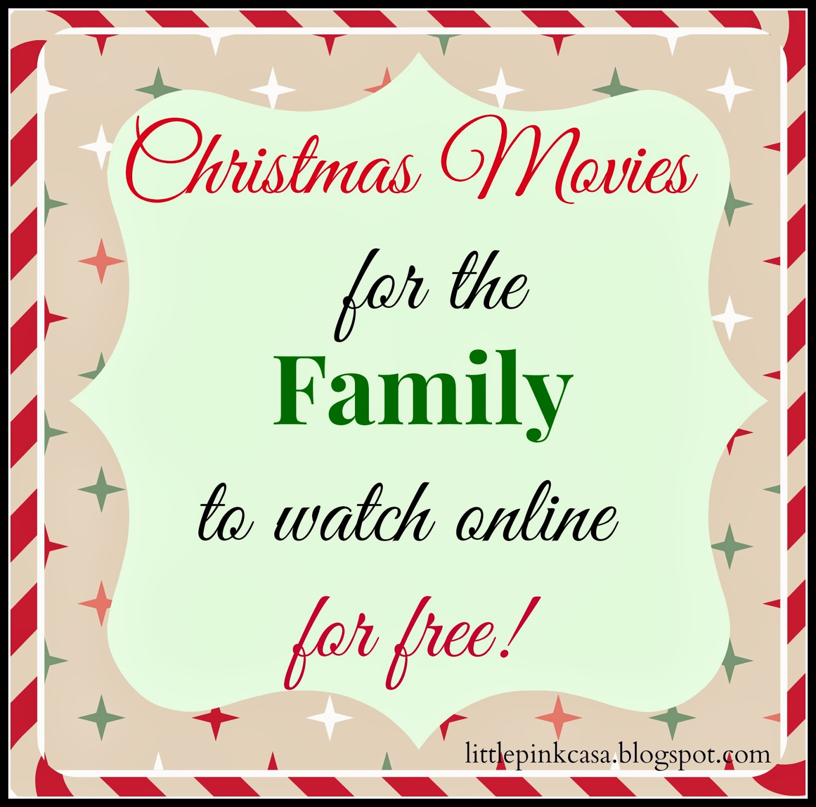 Free Online Christmas Movies for the Family | Little Pink Casa