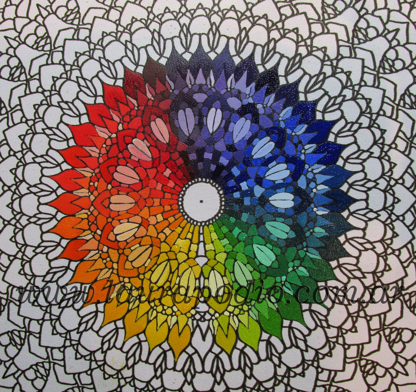 mandalas y color, laura podio
