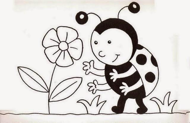 Desenhos para pintar de joaninhas Desenhos para colorir  - imagens para colorir joaninha
