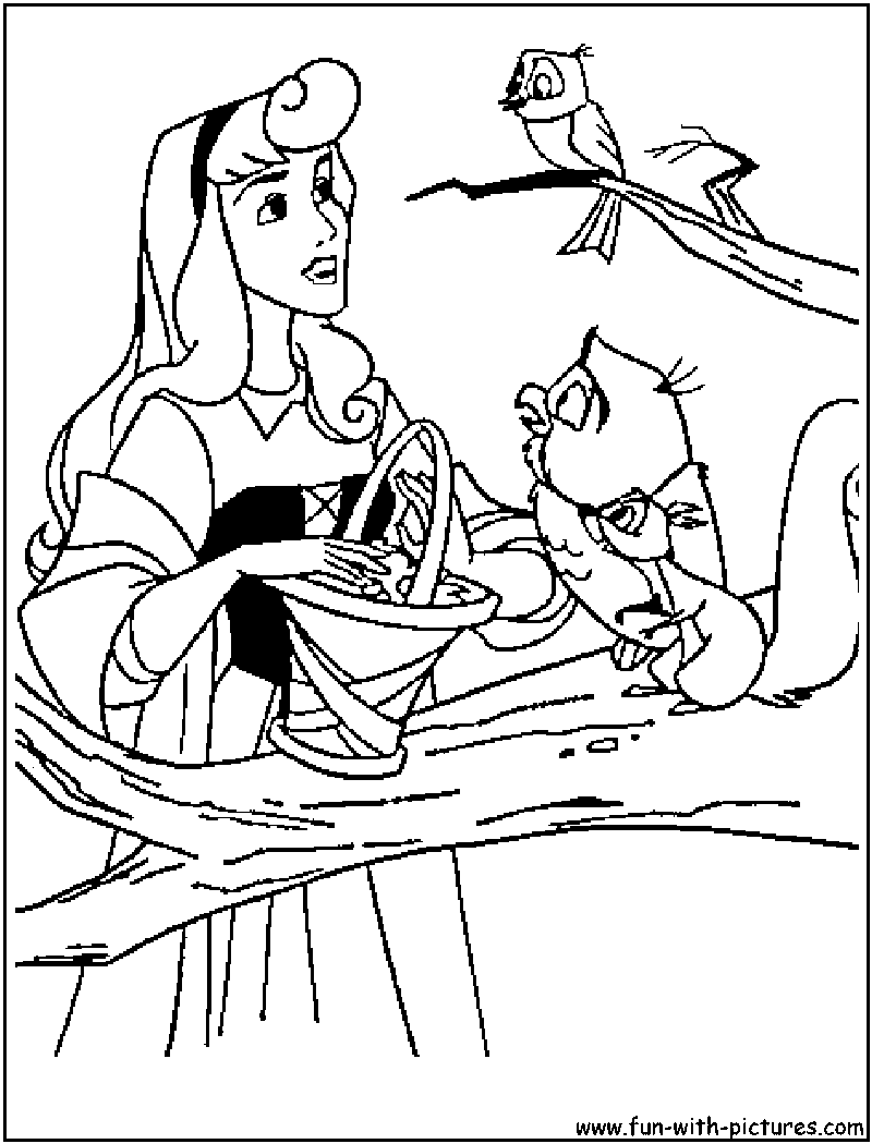 cartoons coloring pages princess aurora coloring pages