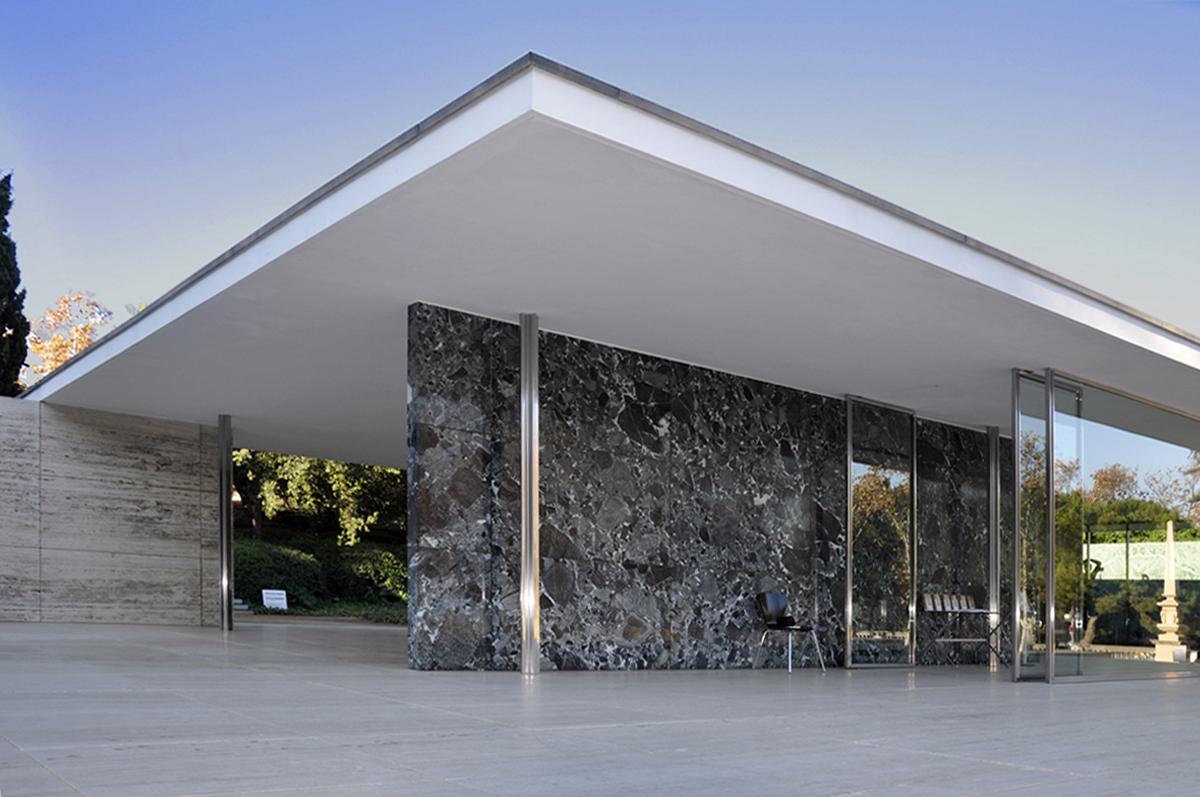 Barcelona pavilion exterior - Barcelona Pavilion Mies Van De Rohe