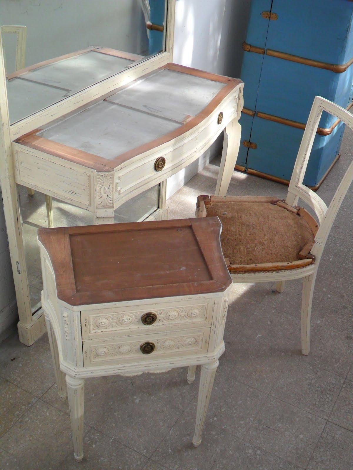 Deco project reciclados de muebles y objetos funes for Juego de dormitorio luis xvi