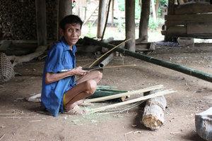 A Cống ethnic man in Nậm Pục village, Mường Tè