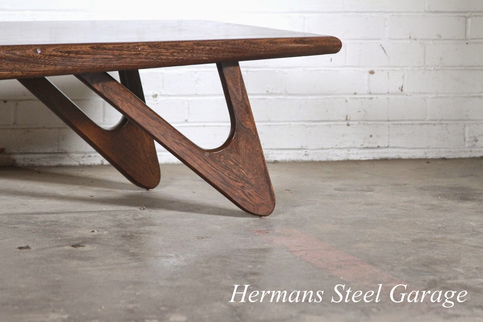 hermans steel garage adrian pearsall style coffee and end table