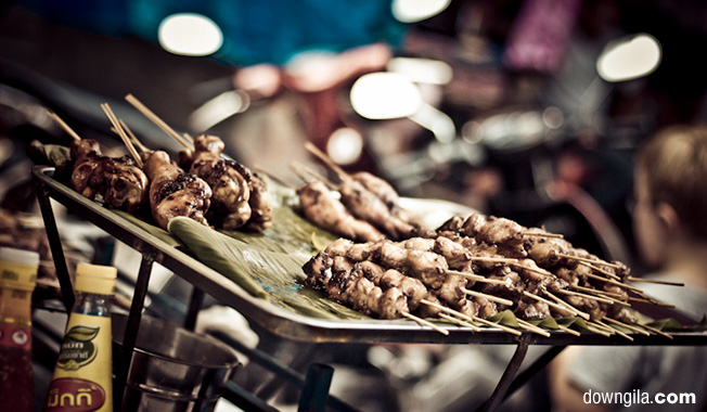 downgila sate satay skewer