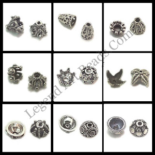 Indian Sterling Silver Wholesale Bead Caps