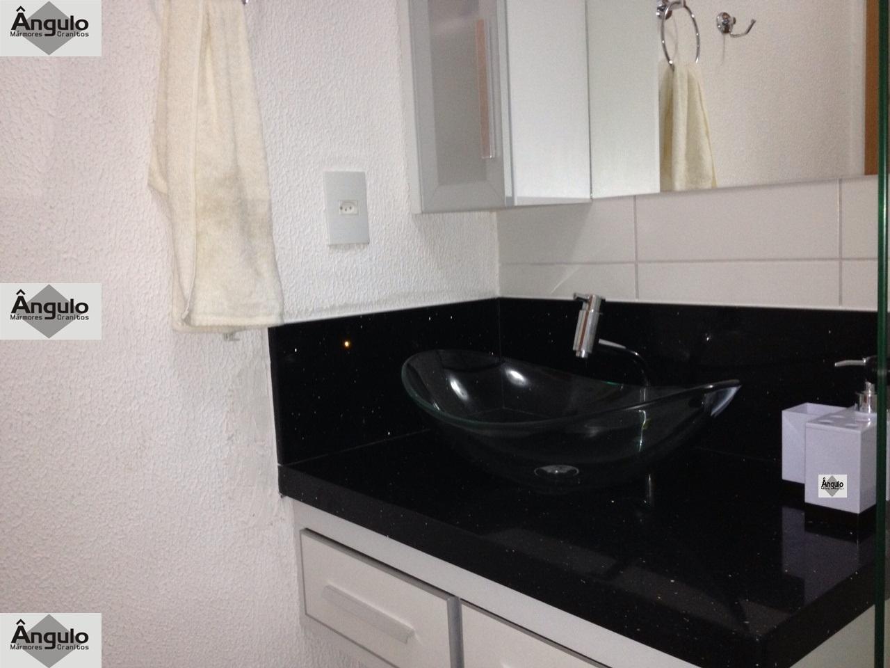 Mármores e Granitos: Bancada de Banheiro em Silestone Negro Stelar #66462F 1280x960 Bancada Banheiro Silestone