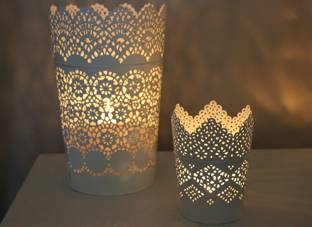time to get cosy with my ikea candle holders lovely