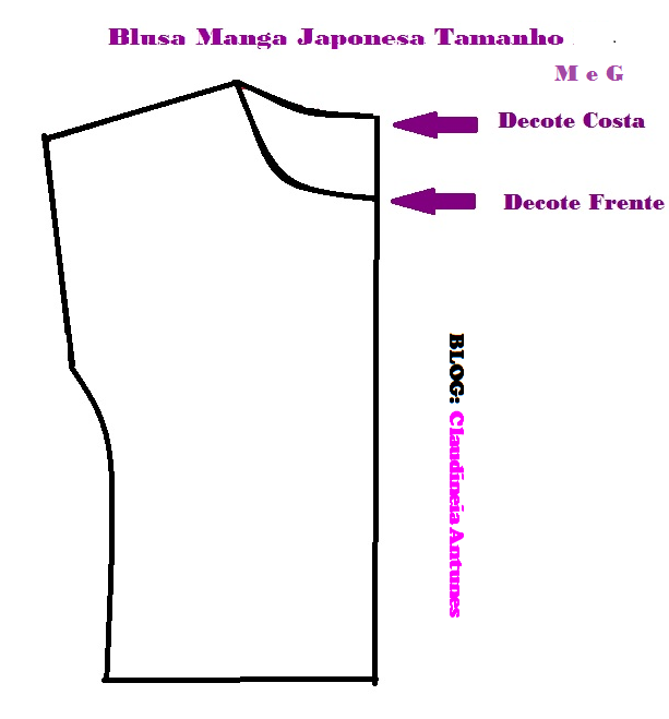 Построение Выкройка Блузки С Цельнокроеным Коротким Рукавом
