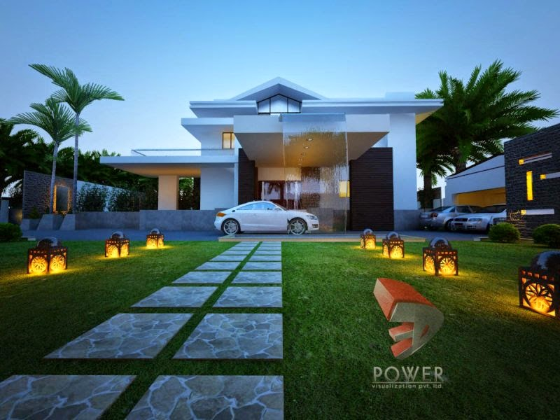 3D Rendering Bungalow View
