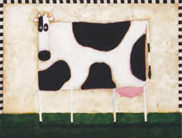 Pinturas cuadros lienzos animalismo y minimalismo en el arte - Cuadros de vacas ...