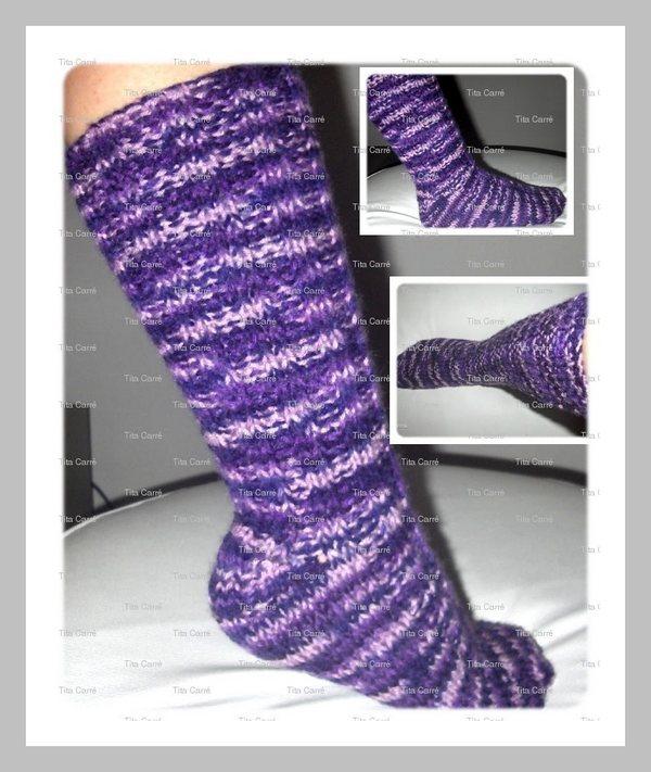 Meia em tricot