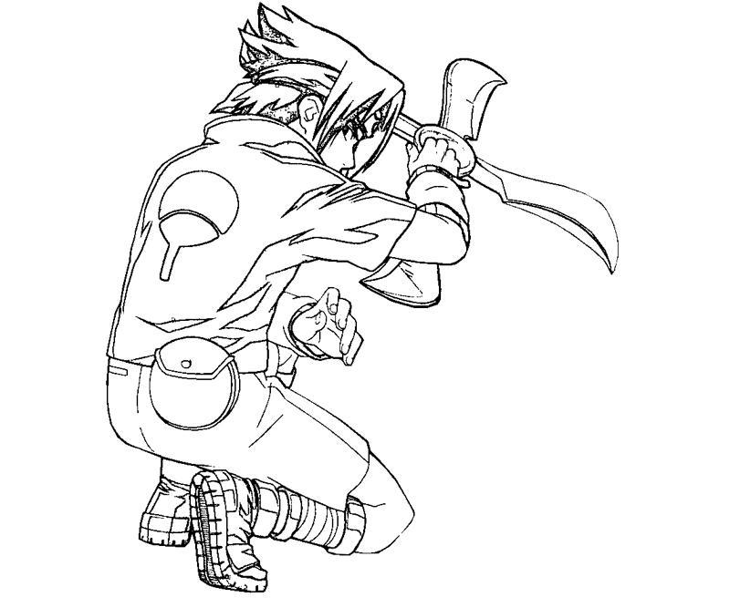 printable sasuke uchiha 13 coloring page