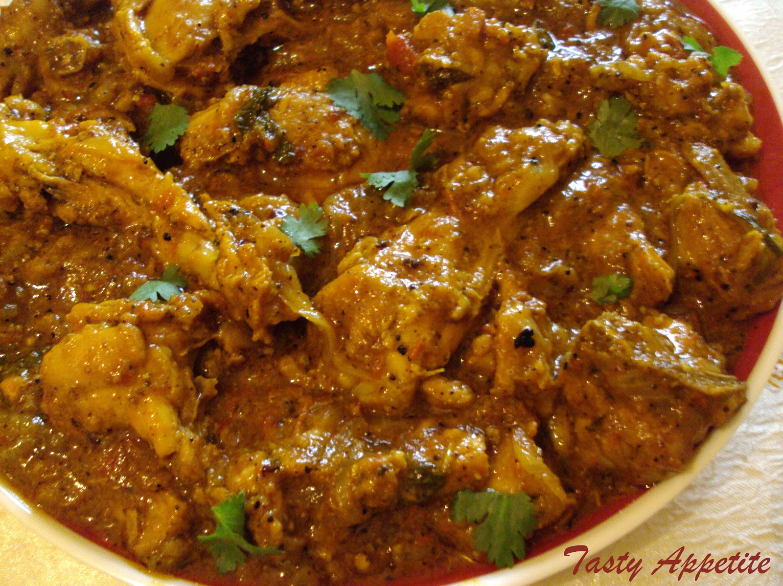 Pepper Chicken Masala / Spicy Chicken Masala Curry