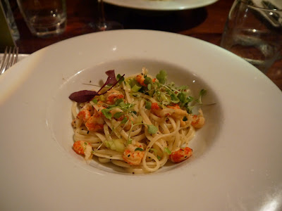 Crayfish Linguine Ricks Restaurant Edinburgh Food Menu main
