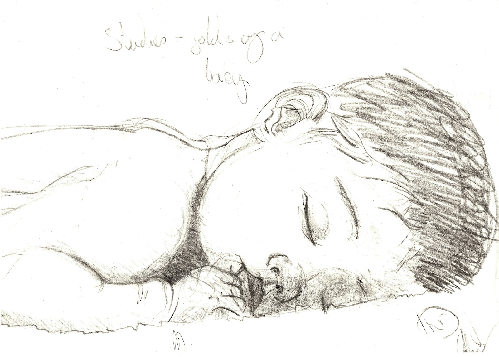 My animation blog life drawing babies for Baby drawing easy