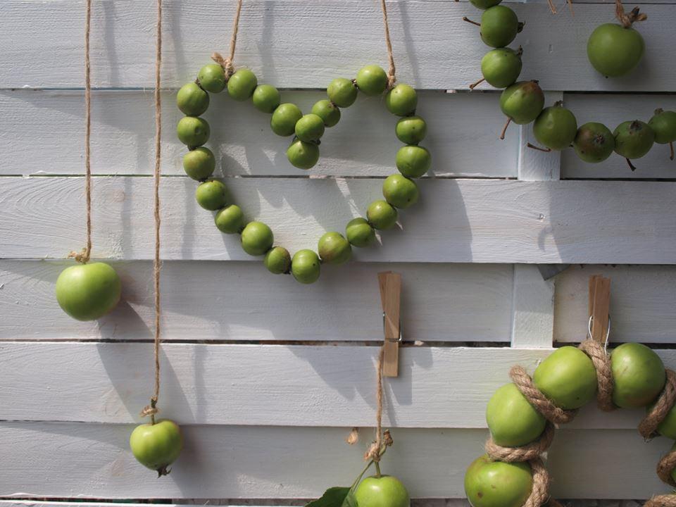 serce z jabłek
