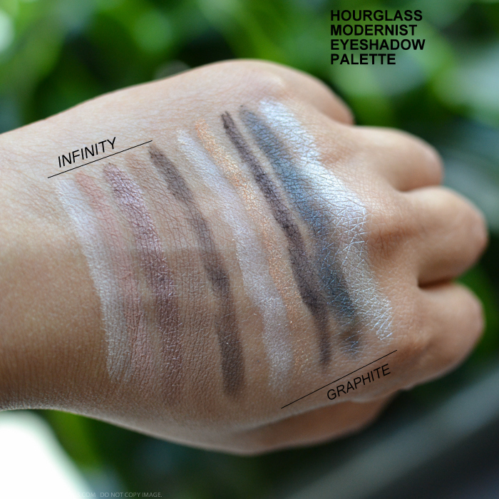 Hourglass Modernist Eyeshadow Palettes Infinity Graphite Makeup Swatches