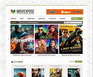 MovieXpose White blogger template