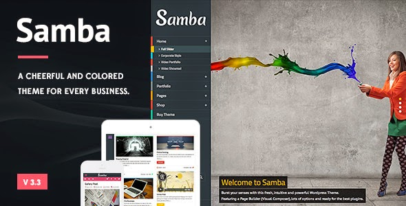 Download ThemeForest Samba - Colored Wordpress Theme for free.