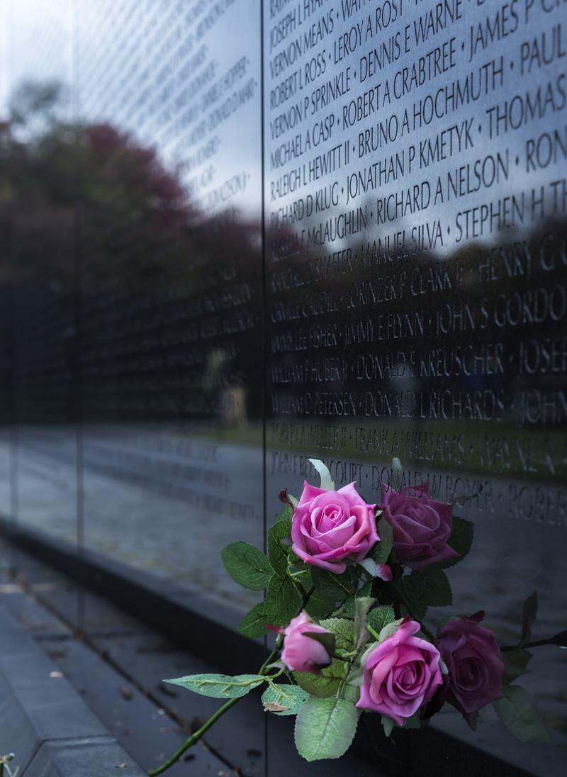 The Vietnam Veterans Memorial in Washington, D.C