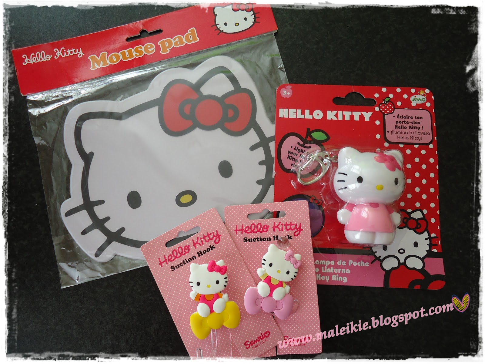 couldn't resist to buy some Hello Kitty stuff... >_